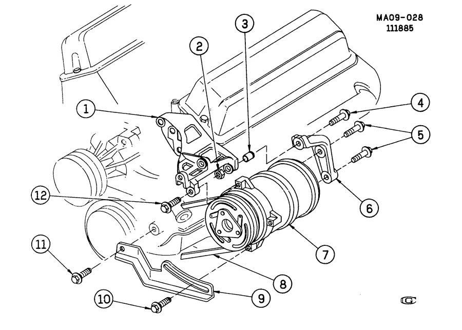 2002 Gmc Sonoma Gt A  C Compressor Mounting
