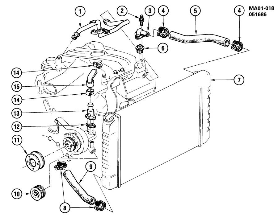 1987 chevrolet celebrity hoses  u0026 pipes  radiator