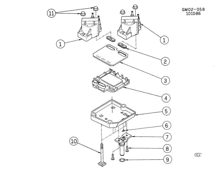 pontiac fiero coil module ignition