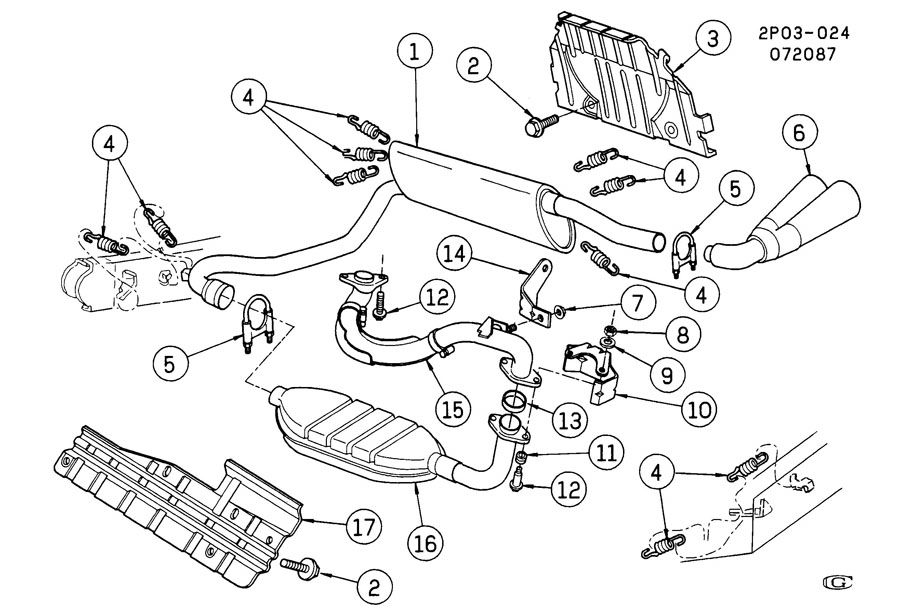 Fiero Exhaust System Diagram