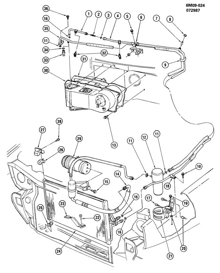 Location Of A  C Port On A 1988 Eldorado