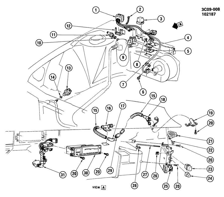 1988 oldsmobile 98 regency a  c control system electrical
