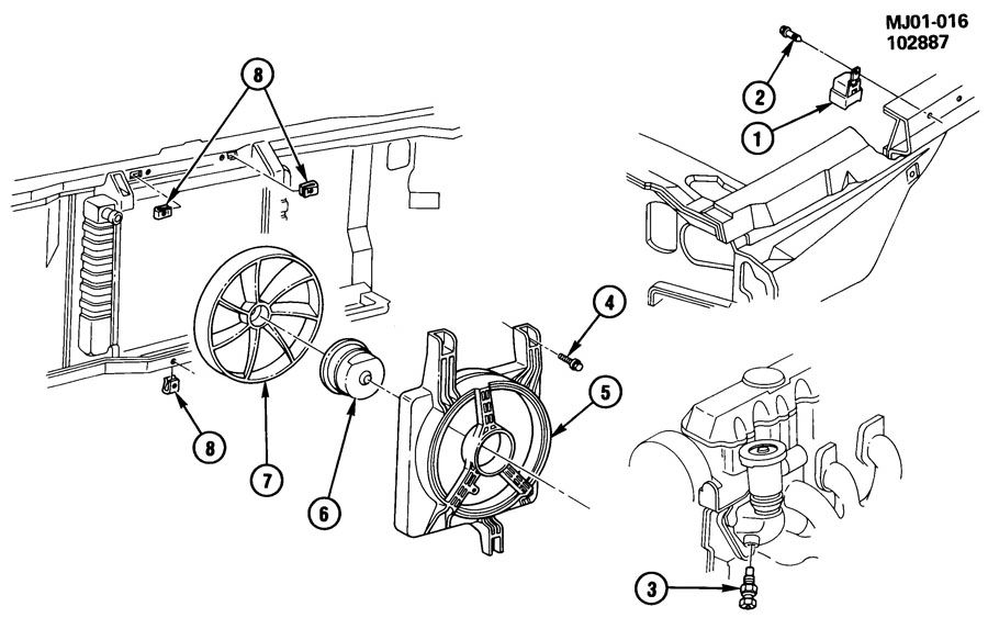 1989 chevrolet cavalier engine coolant fan
