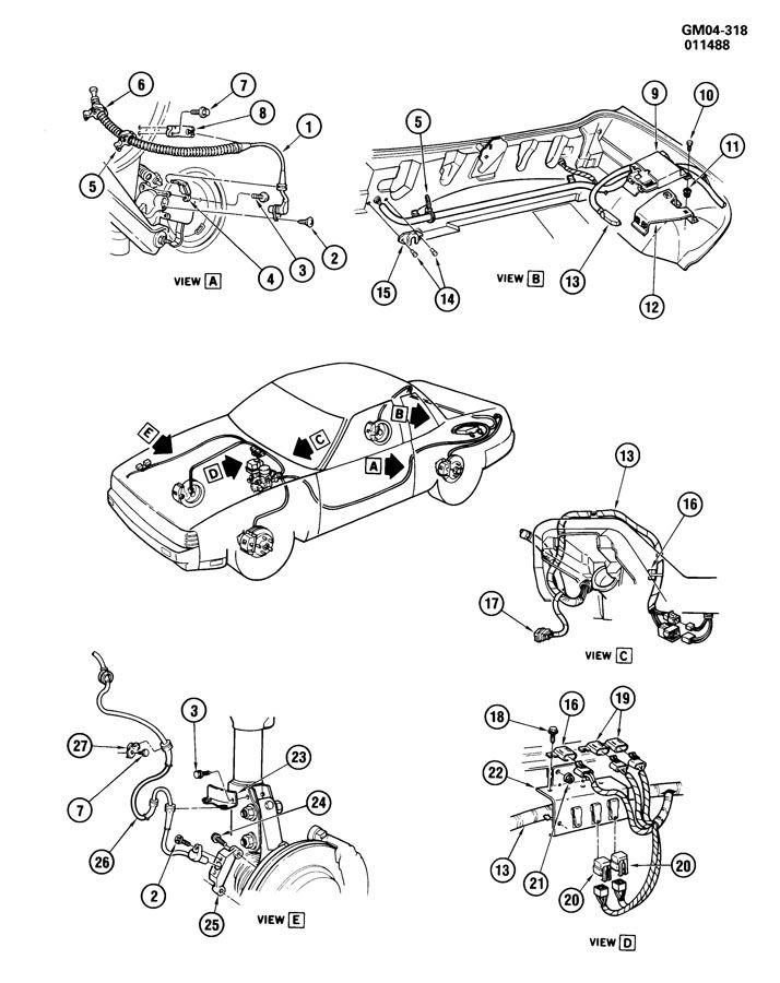 1990 cadillac seville brake system  antilock electrical