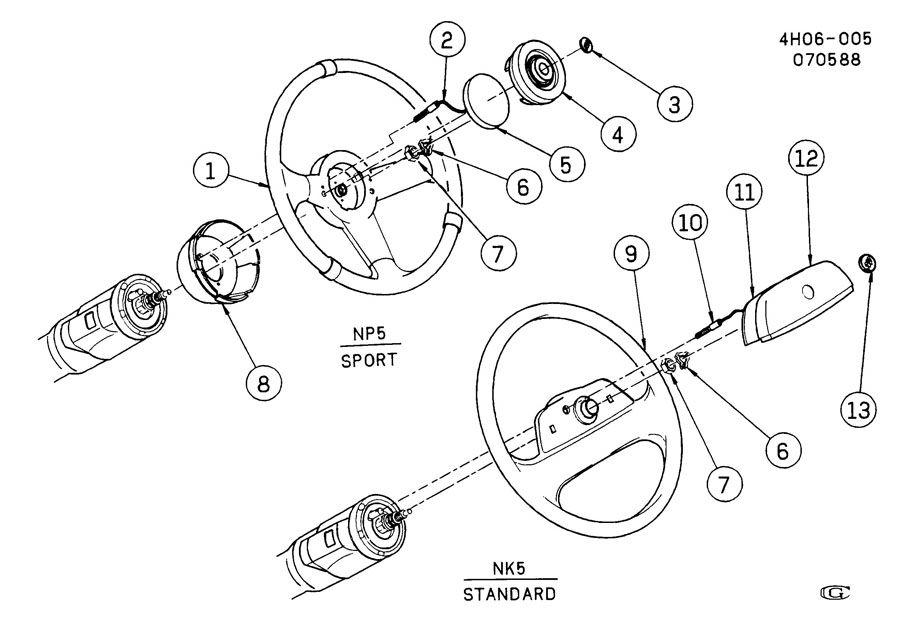 1990 buick lesabre steering wheel  u0026 horn parts