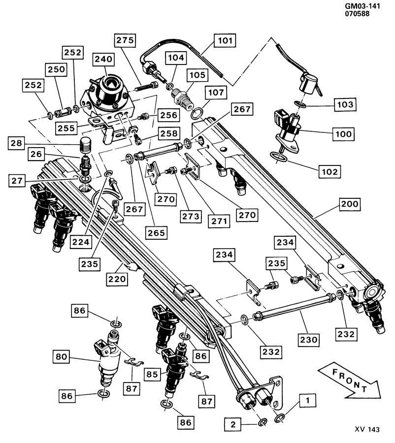 1987 cold start injector line leak