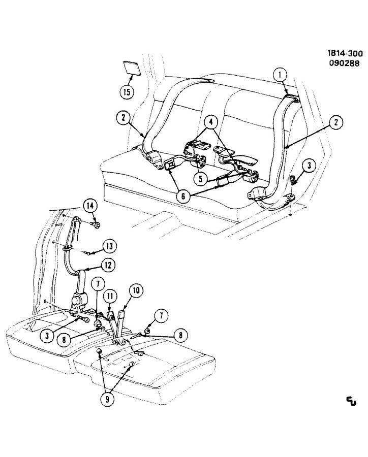 1989 chevrolet caprice seat belts