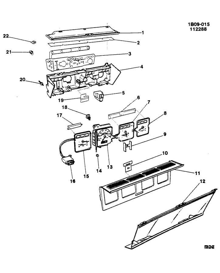 1990 chevrolet caprice cluster asm  instrument panel