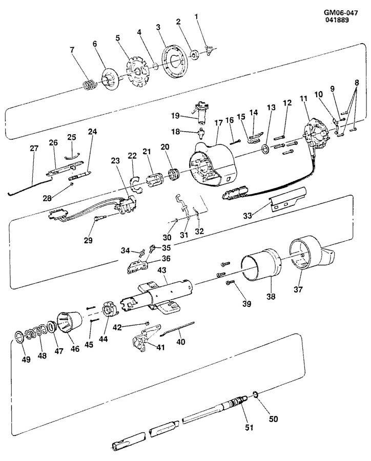 pontiac 6000 steering column  standard