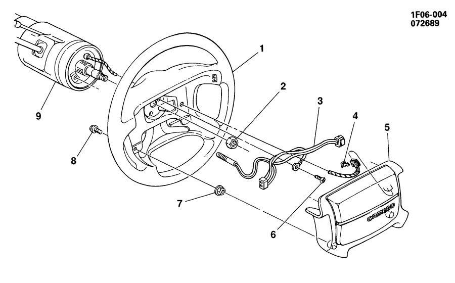 1991 Chevrolet Camaro Switch  Horn Button