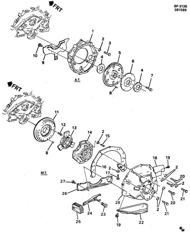 ENGINE ASM-366 TBI; FLYWHEEL & HOUSING-V8 PART 4