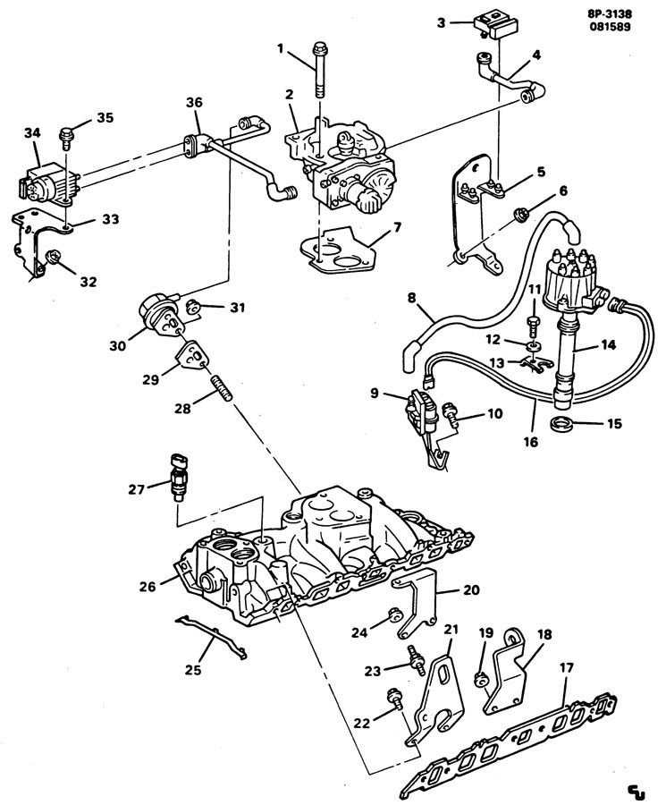 gmc 366 engine diagram
