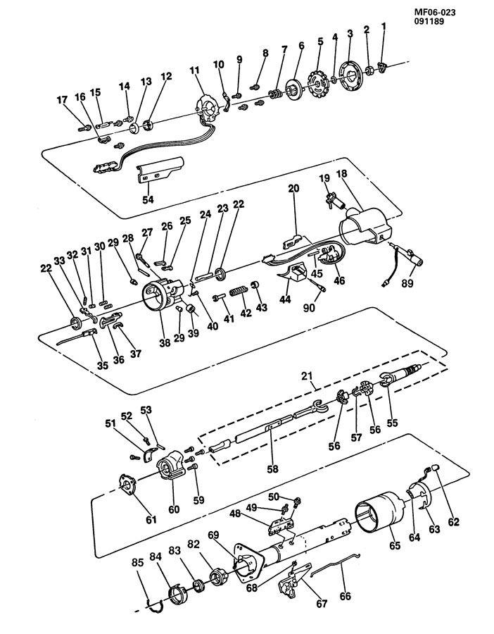 1990 chevy loose steering wheel repair