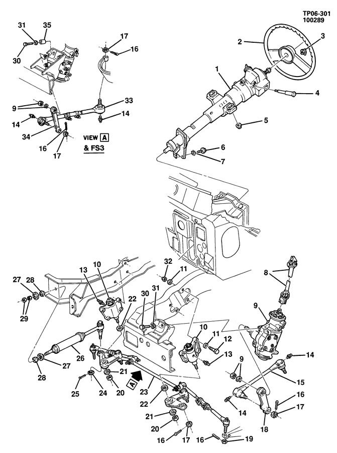 chevrolet p30 steering system  u0026 related parts