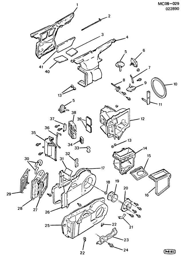 1991 deville heater control problems