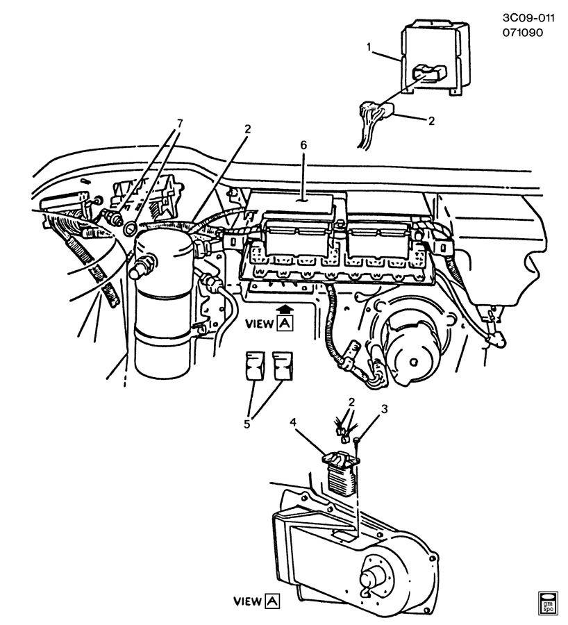 1989 cadillac allante a  c control system  electrical