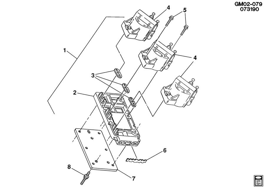 1992 chevrolet lumina coil  u0026 module  ignition