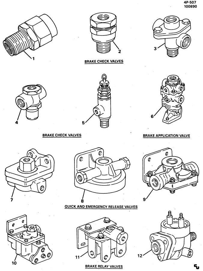 Eaton Brake Shoe Identification : Air brake valve id chart pictures to pin on pinterest