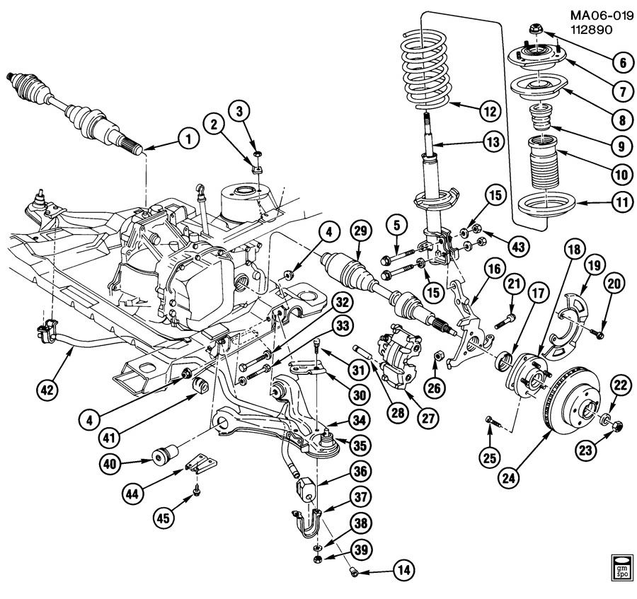 2003 Chevy Silverado Front Axle Part Diagram Auto Parts Diagrams