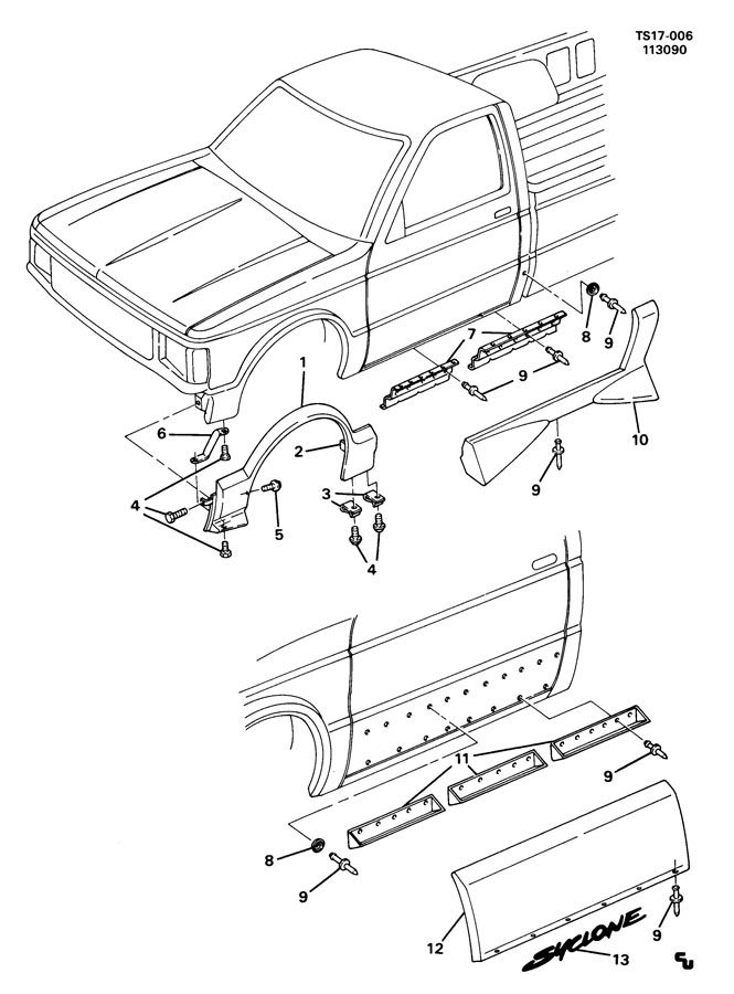 1991 S10 Blazer Fuse Panel