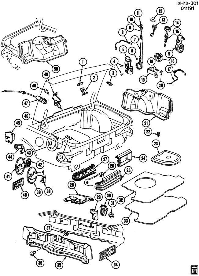 Pontiac Bonneville Lens  Tail Lamp  Lens  Rr Comb Lp Otr - Rh  Lensrr