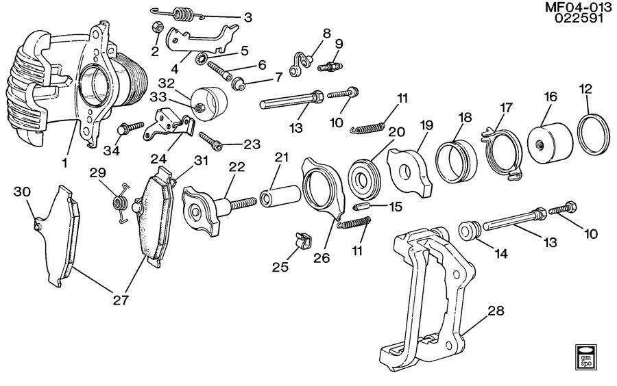 Chevrolet Camaro Pin  Parking Brake Shoe Lever  Pin  Rr