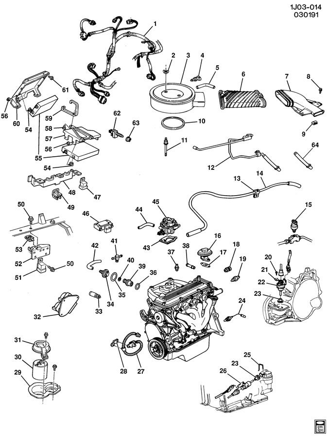 1991 chevrolet cavalier emission controls