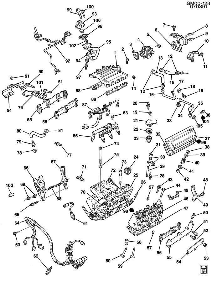 1990 Chevrolet Cavalier Engine Asm