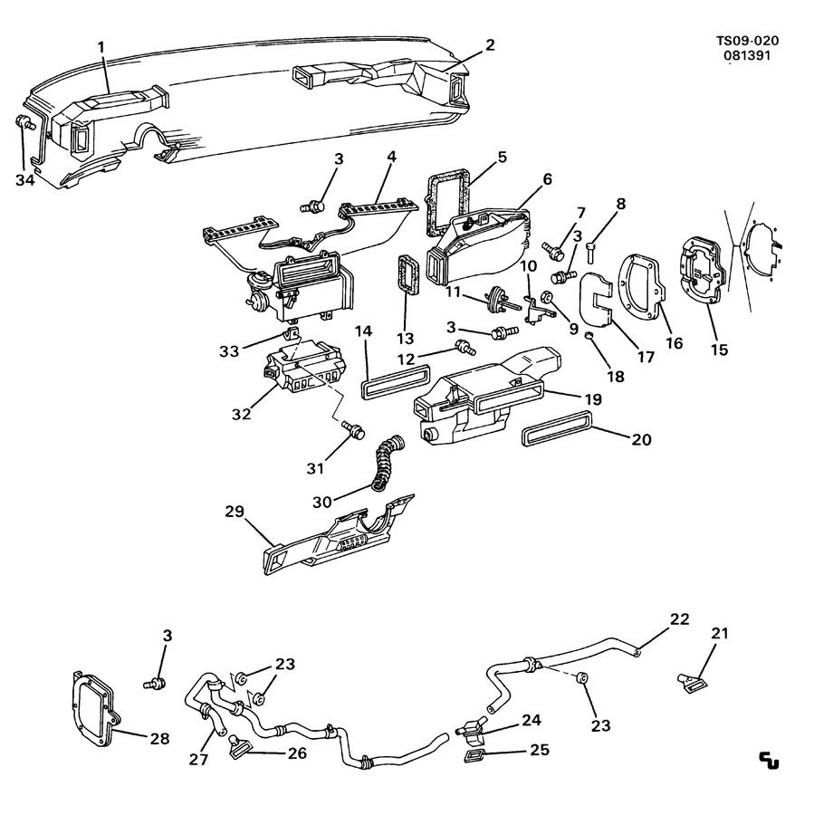 1994 Chevrolet S10 Air Distribution System