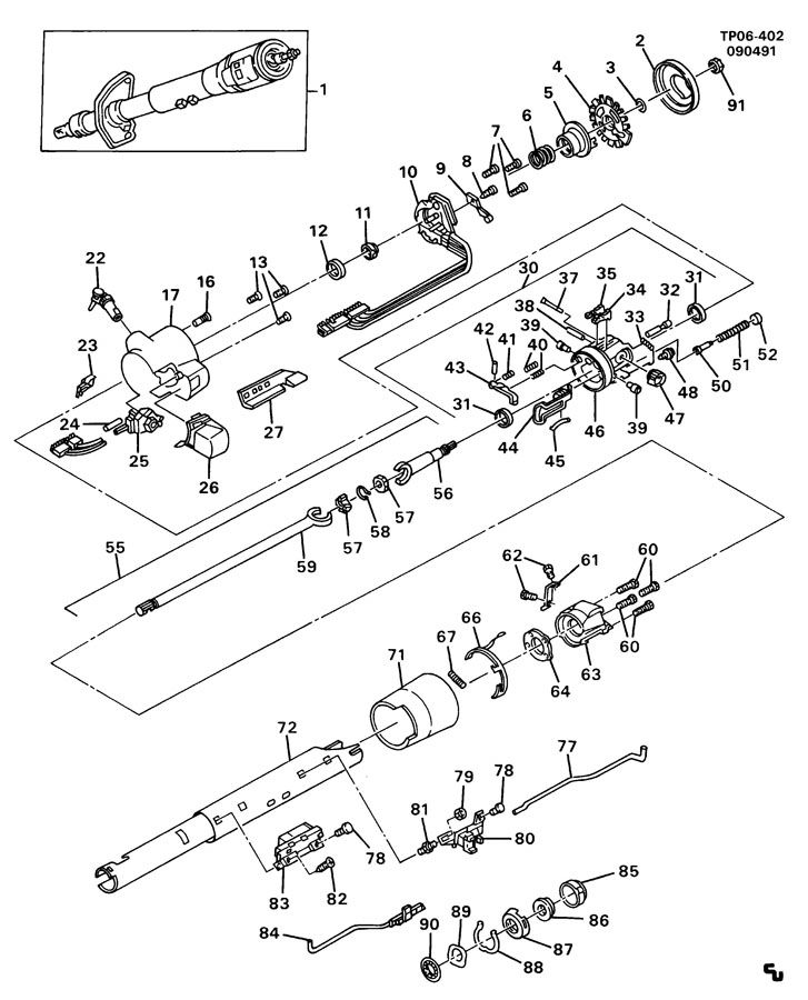 chevrolet tilt steering column parts pictures to pin on