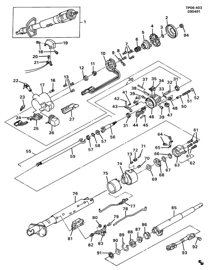 service manual  how to disassemble a tilt steering column