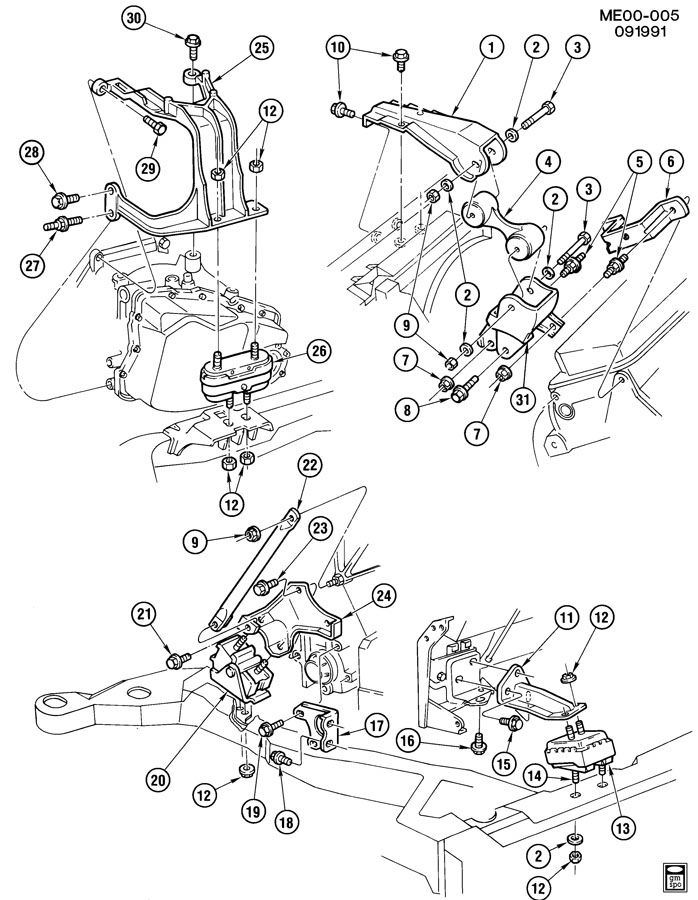 1989 oldsmobile toronado engine  u0026 transmission mounting