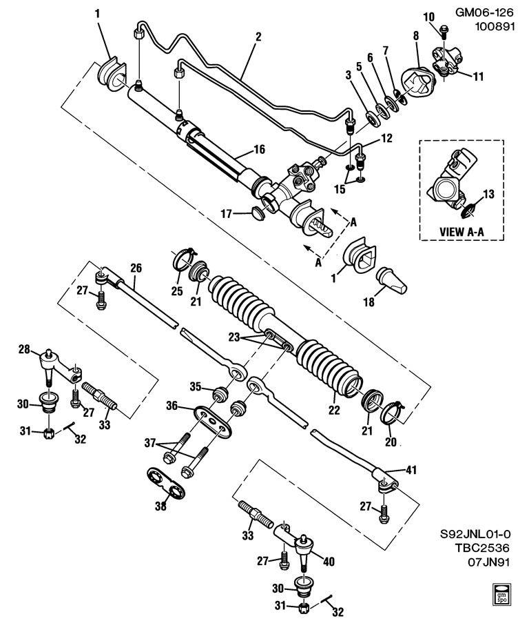 steering asm  rack  u0026 pinion