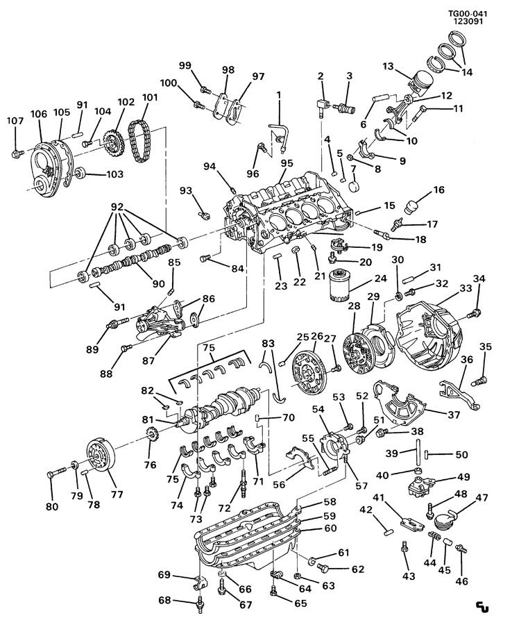 Diagram ENGINE ASM-5.0/5.7L V8 PART 1 for your Saturn Relay