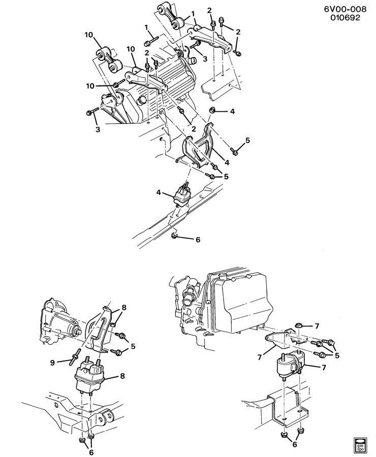 cadillac allante engine  u0026 transmission mounting
