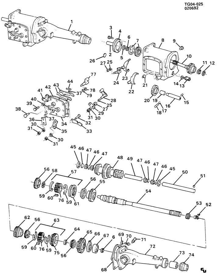 14095504  Rear  Transmission Mainshaft Rear