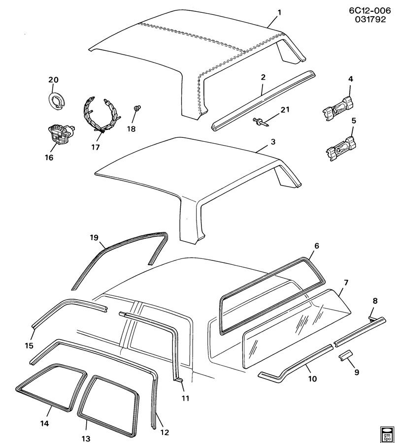 Diagram MOLDINGS/BODY/ABOVE BELT for your Saturn