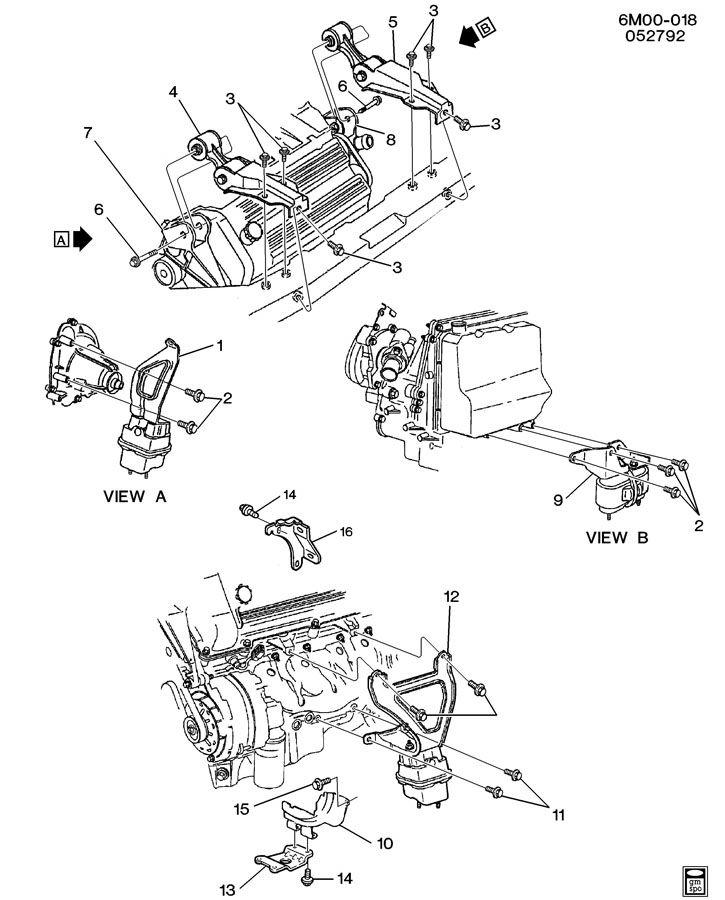 Cadillac Deville Strut  Engine Mounting  Strut  Eng Mt W