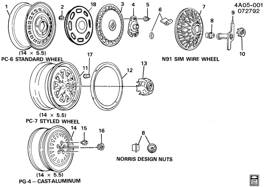 wire wheel covers on pontiac 6000le