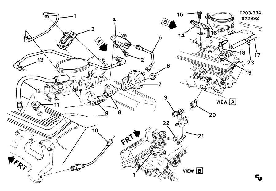 1992 chevrolet p30 p3 e g r  valve  oxygen  u0026 m a p  sensors  l05  5 7k