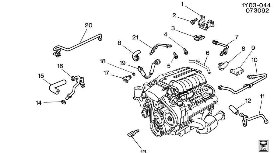 1992 corvette engine diagram sensors  corvette  auto