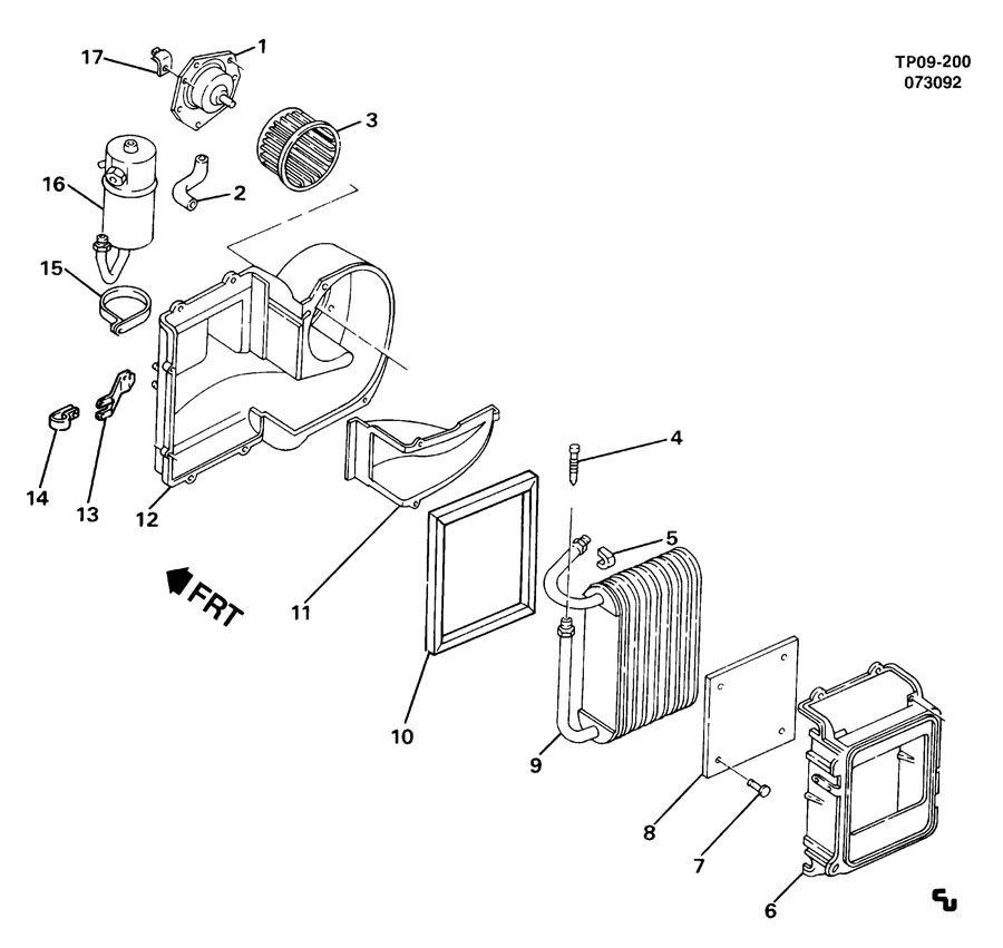 Chevrolet Cavalier Impeller  Air Conditioning  A  C
