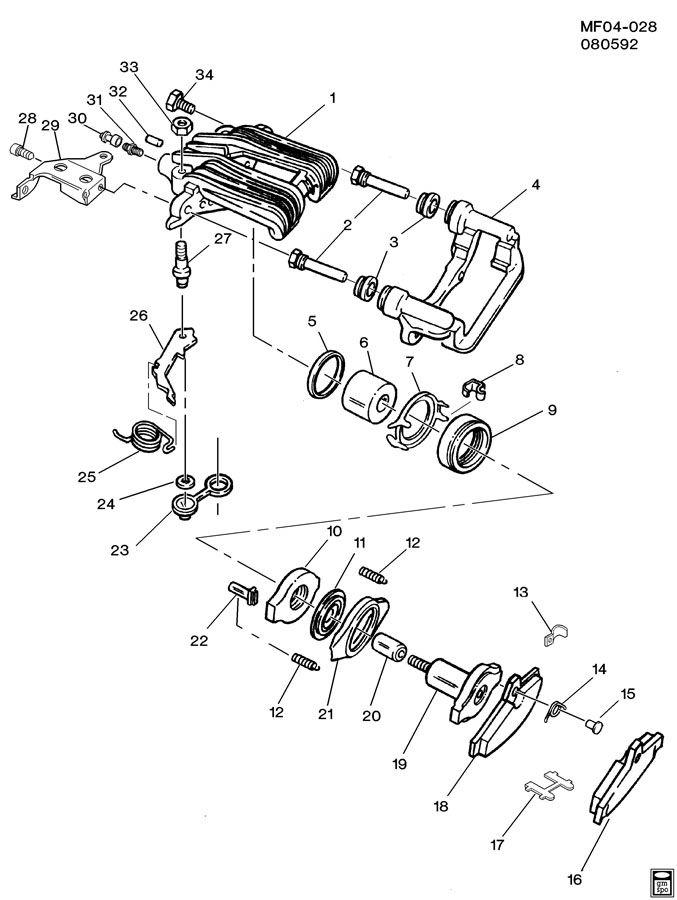 1995 chevrolet camaro brake caliper  rear