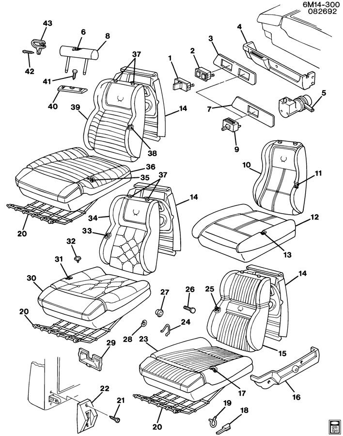 gm seat parts