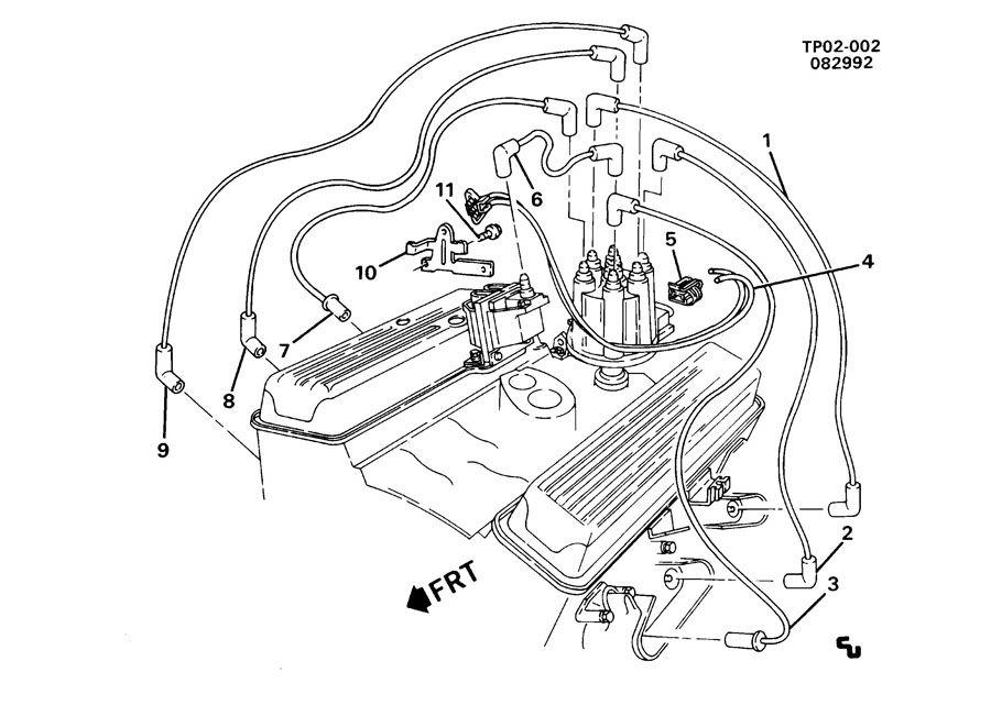 chevrolet p30 p3 spark plug wiring  lb4  4 3z