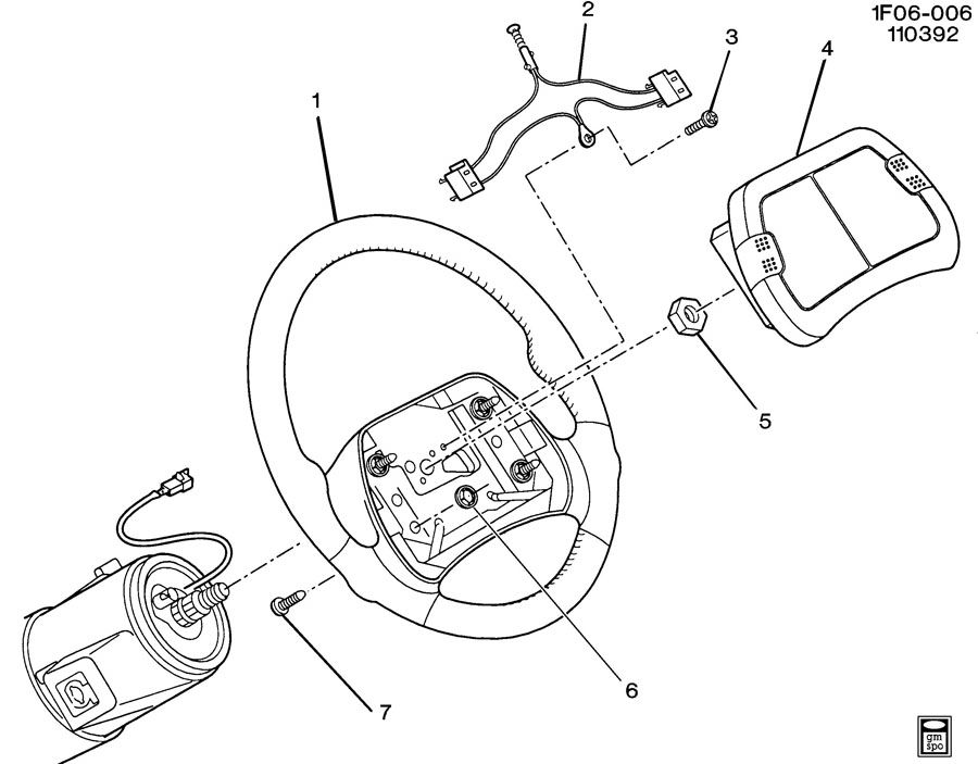 1996 chevrolet camaro steering wheel  u0026 horn parts