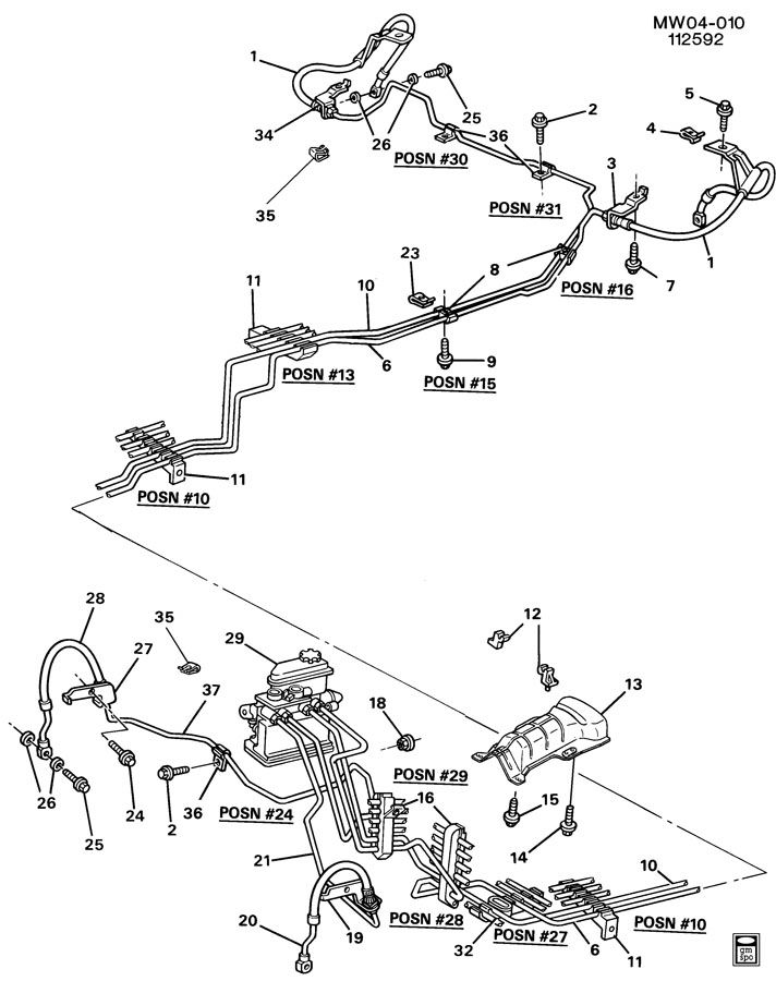 Pontiac Grand Prix Retainer  Fuel Line  Hydraulic Brake