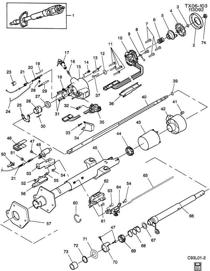 gmc safari steering column