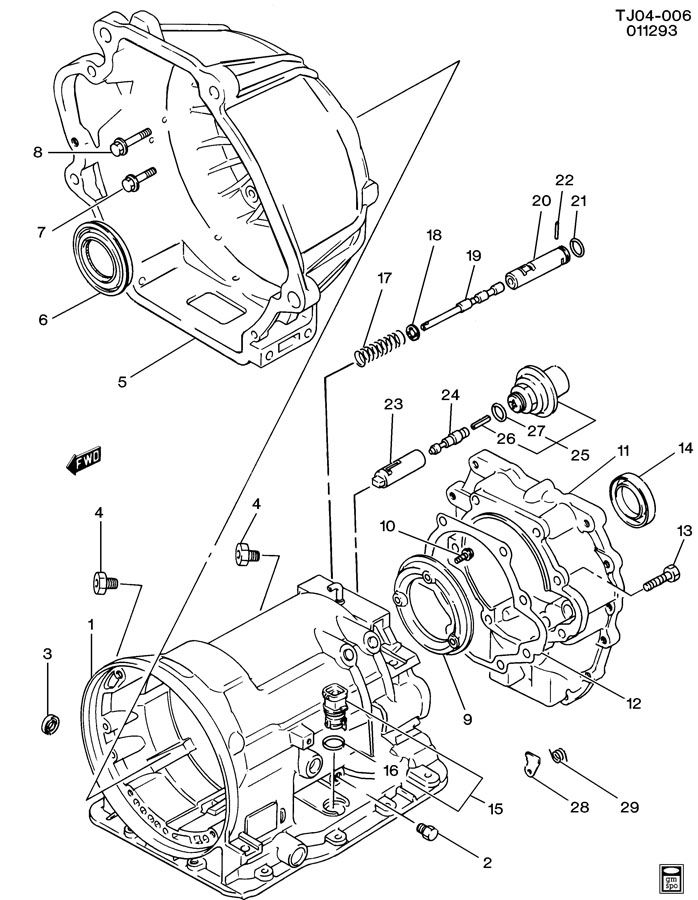 automatic transmission case