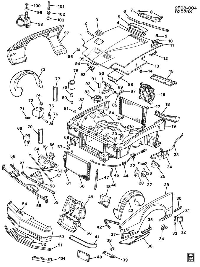 Diagram SHEET METAL/FRONT END for your 2006 Saturn Relay